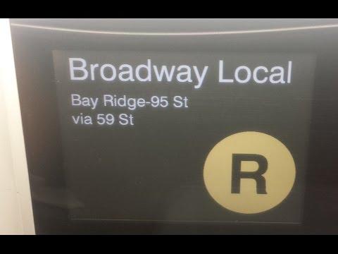 On Board Bay Ridge Bound R160 (R) Train From Canal Street to 95th Street via Manhattan Bridge