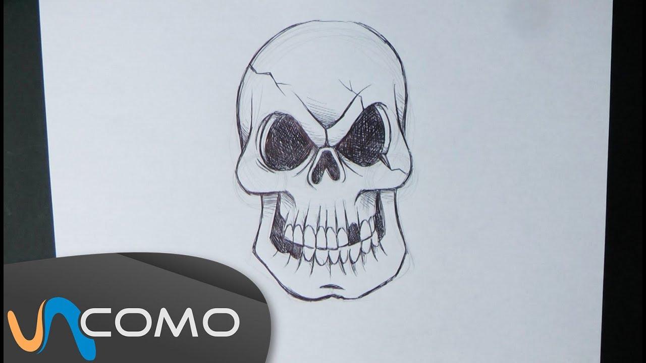 Dibujar Calavera Paso A Paso Youtube
