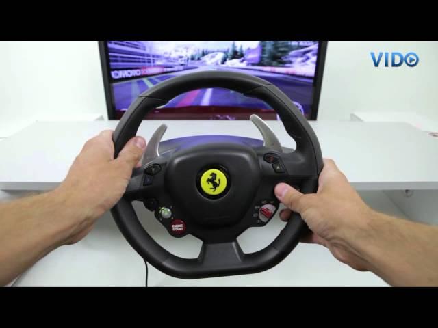 Thrustmaster Ferrari 458 Italia Racing Wheel For Pc Xbox 360 Youtube