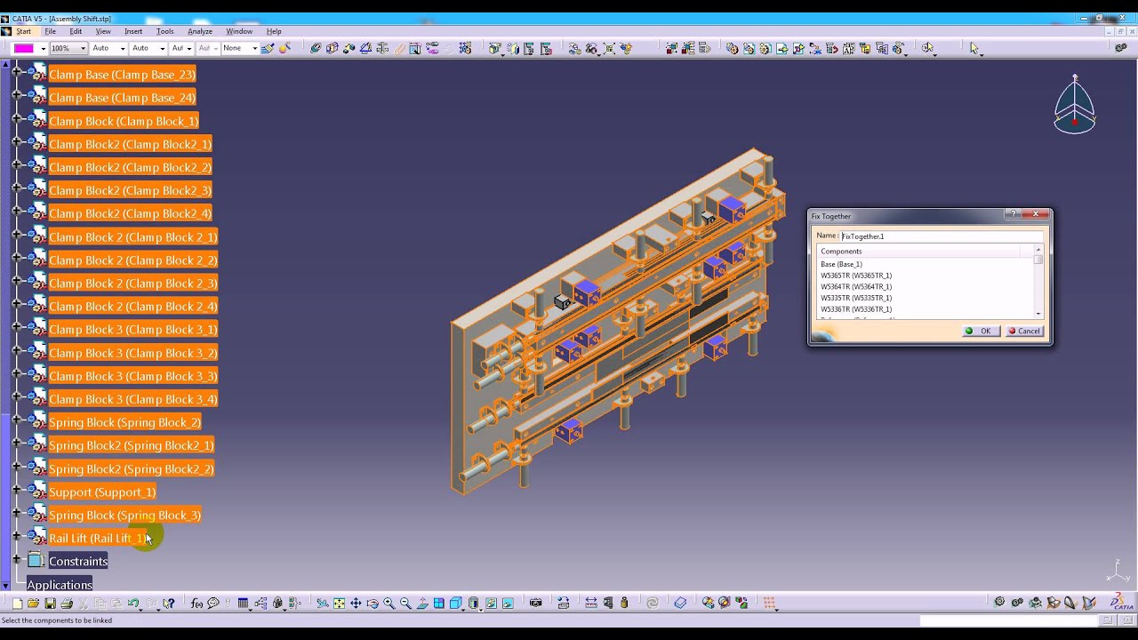 CATIA Support Rotating a Translated STEP Assembly
