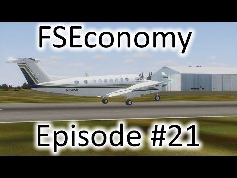 FSX | FSEconomy - Ep. #21 - That Crappy Default King Air 350 | Beech King Air 350