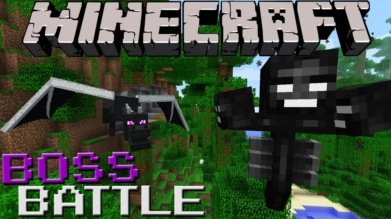Wither VS Ender Dragon Minecraft Boss Battle