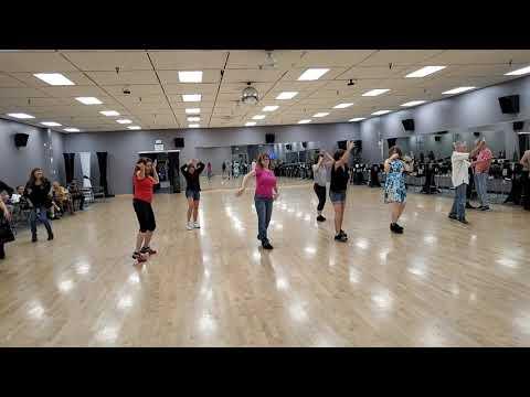 GingE Dancing Israeli Folk Line Dance, Ha'amantezet, With The San Diego Dancers On November 18, 2019