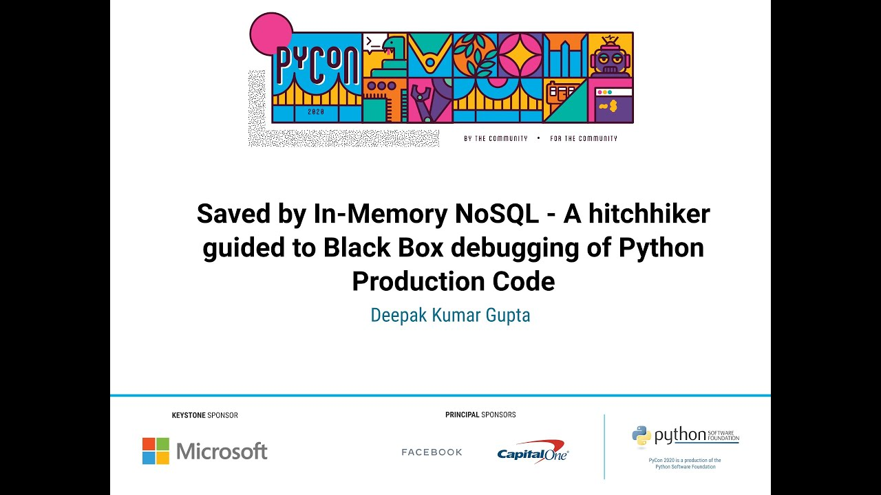 Image from Saved by In-Memory NoSQL - A hitchhiker guided to Black Box debugging of Python Production Code