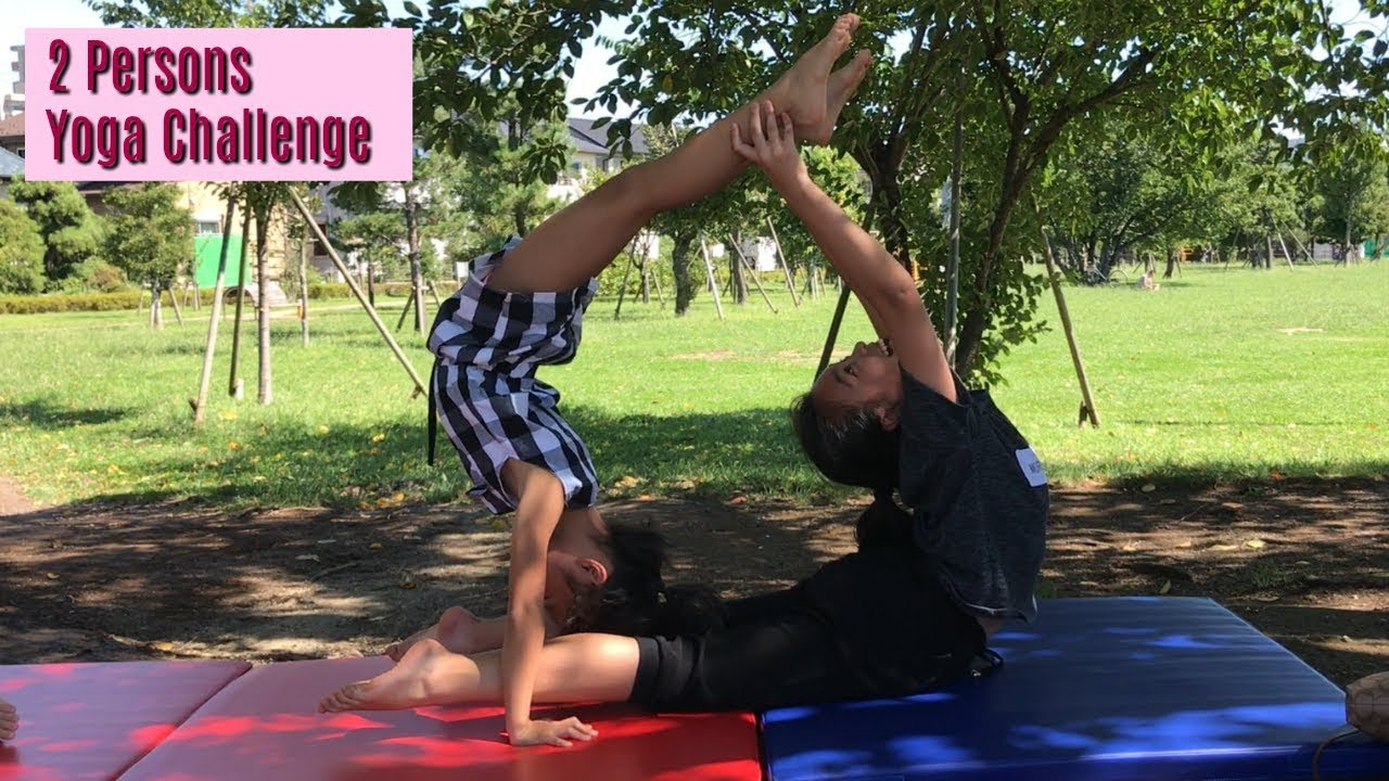 2 Person Yoga Challenge By Aya Amp Yuri Youtube