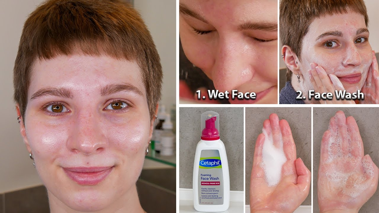Cetaphil Foaming Face Wash for Redness Prone Skin Demonstration | How To Use