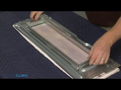 Upper Door Glass Frame - Kitchenaid Double Oven Gas Range (Model #KFGD500ESS04)