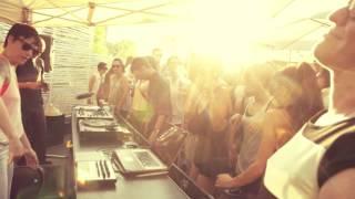 Hushlamb + SAT Rooftop Terrace Klangscheiben Showcase Montreal . 6.7.14