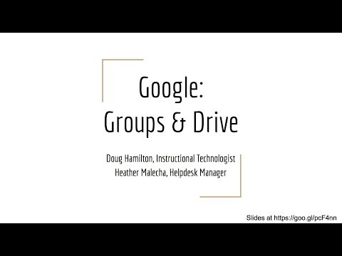 Google Drive and Google Groups