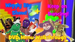 The Wiggles & The Hooley Dooleys - The Wiggly Big Show and Keep on Dancing 2017 DVD Menus