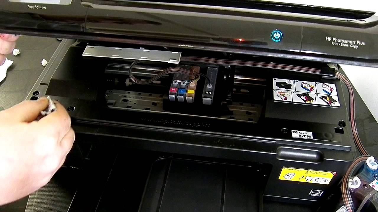 Hp Photosmart B209 Series Ciss Continuous Ink System Youtube