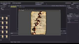 Godot Engine: Burning paper (Fragment Shader)