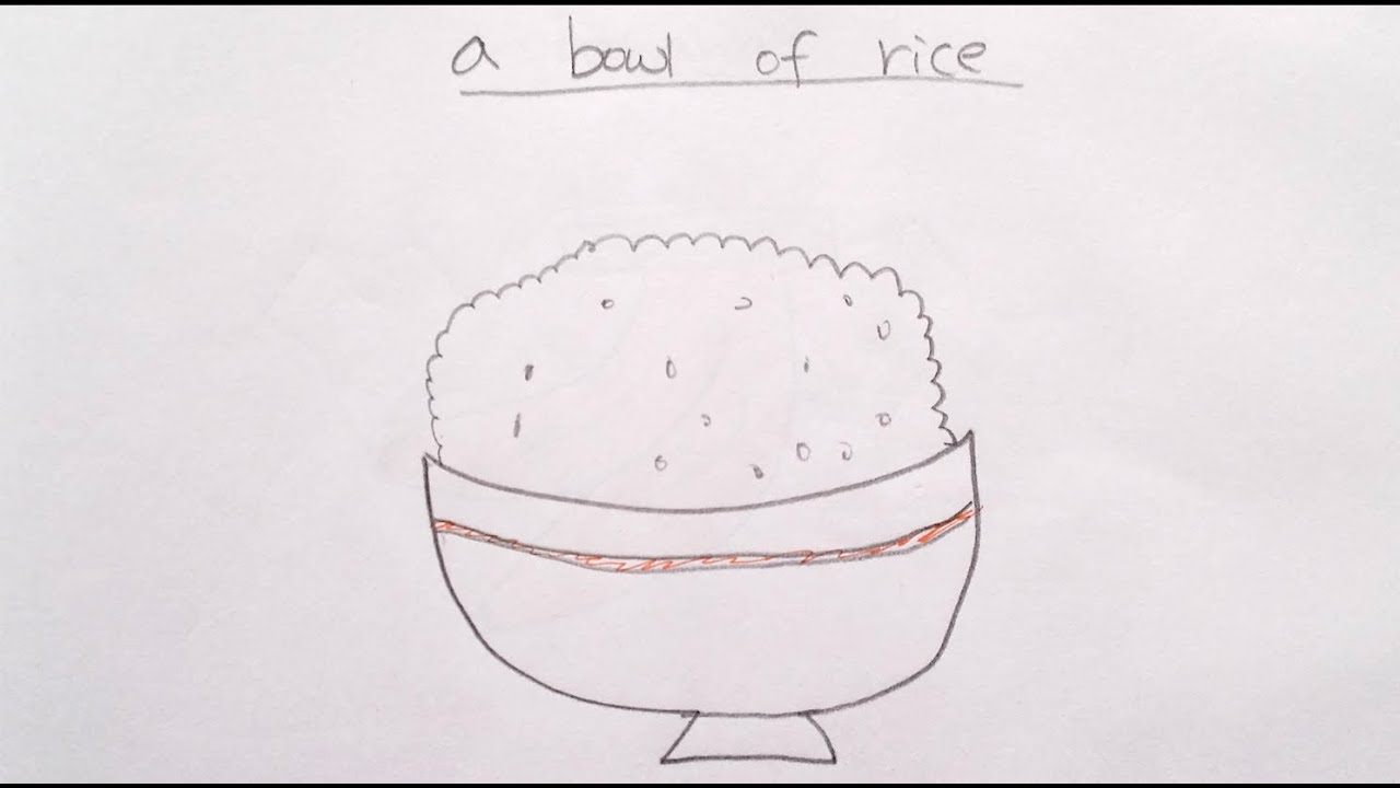 How to Draw Cartoon Rice 畫卡通一碗飯 - Easy Drawing Tutorial ...