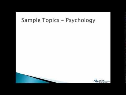 MCAT Strategy - MCAT 2015: Psychological, Social and Biological Foundations of Behavior Introduction