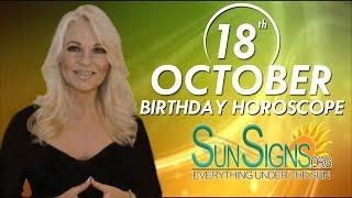 Birthday October 18th Horoscope Personality Zodiac Sign Libra Astrology