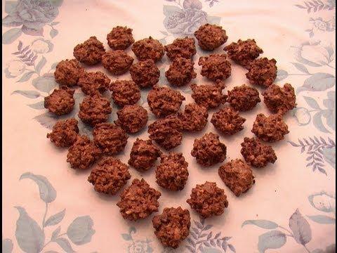 Petits gâteaux aux cacahuètes et chocolat par Mamy Monica