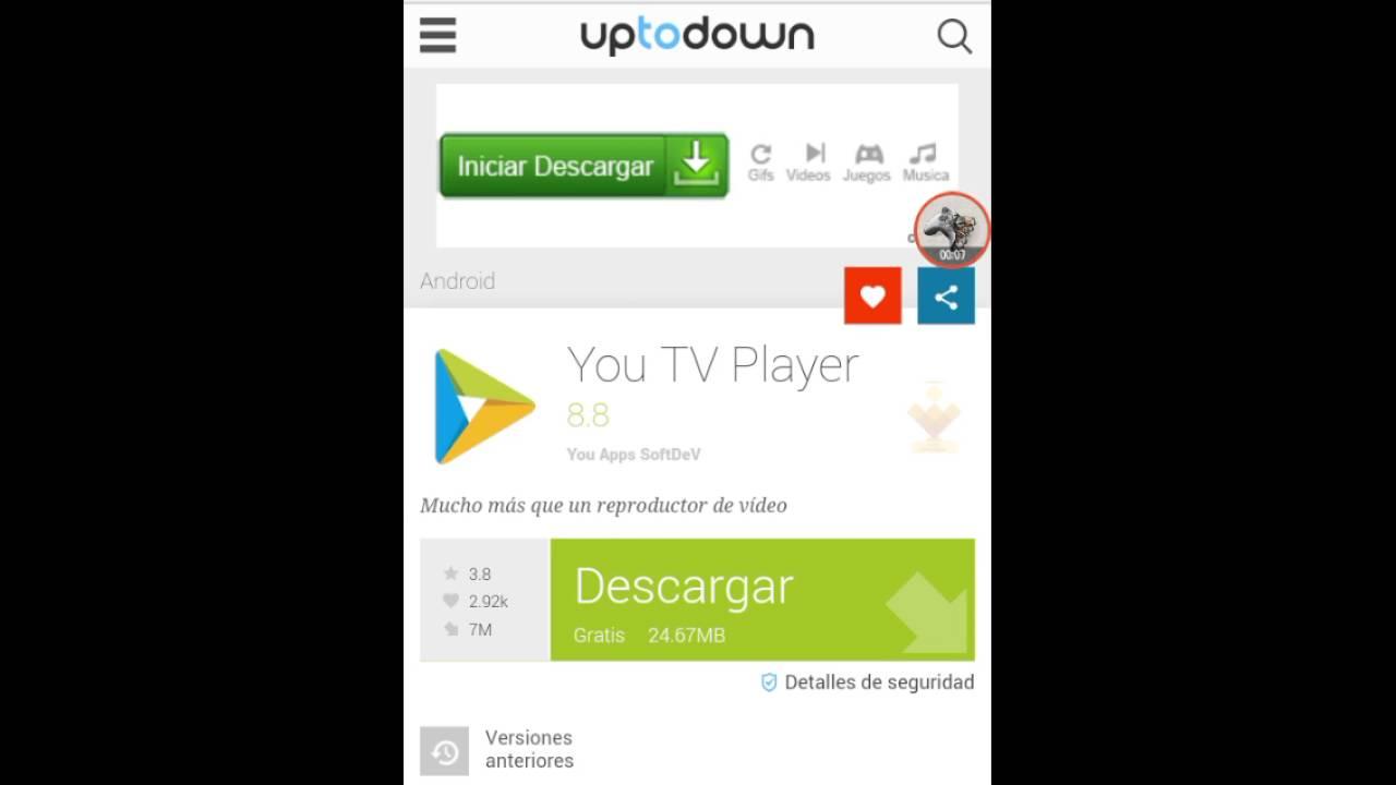 descargar you tv player gratis android