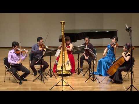 Jean Cras: Quintet for Harp, Flute, Violin, Viola, and Cello, 3rd movement: Assez lent