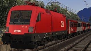 ÖBB Rh1016 Taurus ES64U2 REX5317 Innsbruck - Kufstein Führerstandsmitfahrt Train Simulator 2017