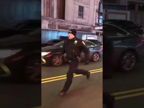 Mercedes AMG Runs Over Police Officer in Times Square NYC and Gets Away!