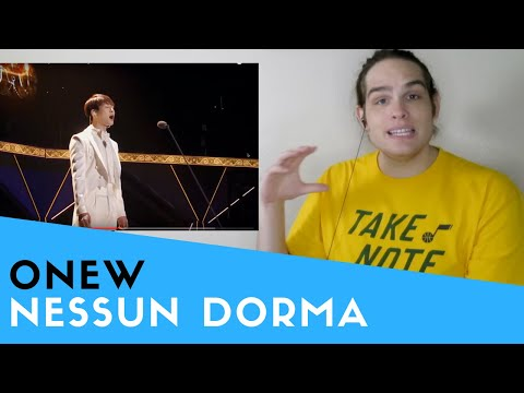Voice Teacher Reacts to Nessun Dorma - (Onew from SHINee)