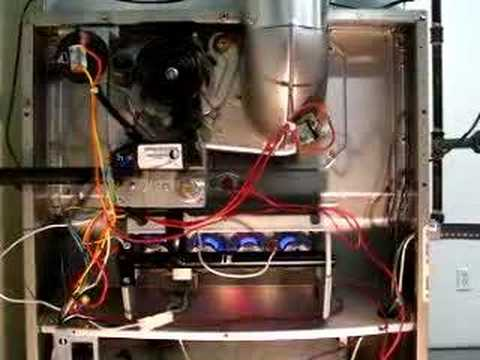Sequence of operation 80% gas furnace - YouTube