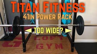 titan fitness t 3 folding power rack is it too wide