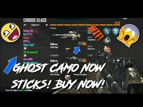 BO2 GHOST CAMO GUNS NOW SELLING! (CHEAP!)