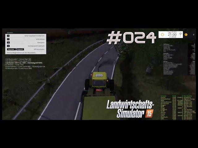Let's Play Landwirtschafts Simulator 2015 | Mais Häckseln XXL | Folge #024