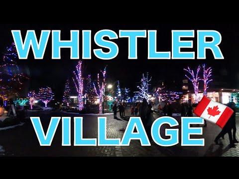 【ビレッジ紹介】Christmas - Whistler Village In Winter  クリスマス時期のウィスラービレッジ