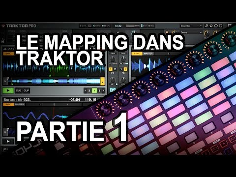MAPPING TRAKTOR - Partie 1 - Créer fichier mapping, play pause cue stop, sync, casque, effet On Off