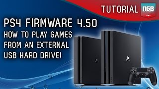 PS4 Firmware 4.50 - USB Hard Drive Tutorial - How to use extended storage!