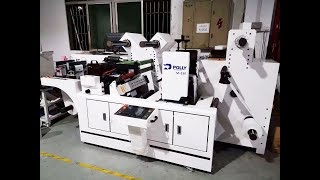 The modular, multiple labels rotary die cutting machine, labels converting machine