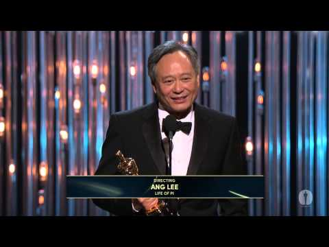 "Thumbnail: Ang Lee ‪winning the Oscar® for Directing ""Life of Pi"""