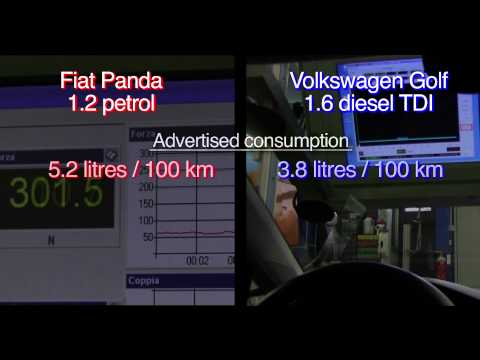 Fuel consumption Altroconsumo test