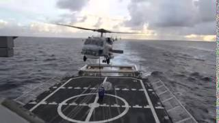 Coast Guard Cutter Waesche conducts Fuel and replenishment at sea ops