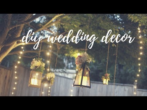 EASY WEDDING DECOR IDEAS: LIGHTING & TWINE BALLS