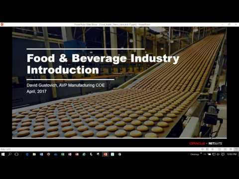 Live Demo: NetSuite for Food and Beverage Companies