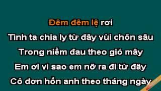 Khóc Tình Karaoke - Vân Quang Long - CaoCuongPro