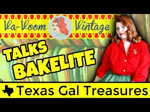 How to Identify Bakelite with Va-Voom-Vintage 2017 - How to Test Bakelite and Vintage Plastics