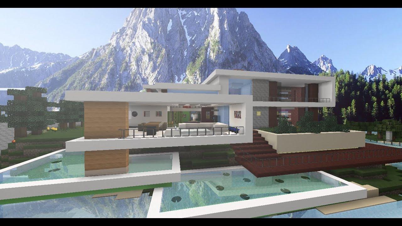 Mi primera casa moderna en minecraft youtube - Fotos de la casa de cristiano ronaldo ...