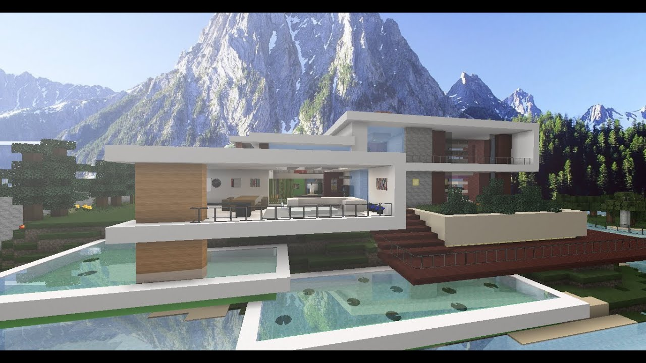 Mi primera casa moderna en minecraft youtube - Mi primera casa ...