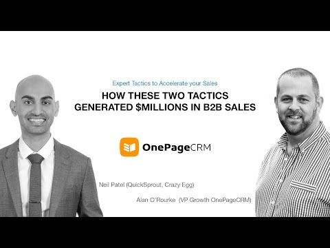 How to do Outbound Prospecting and Inbound Lead Gen with Neil Patel and OnePageCRM