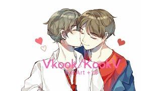BTS-Vkook/KookV FanArts (+18)