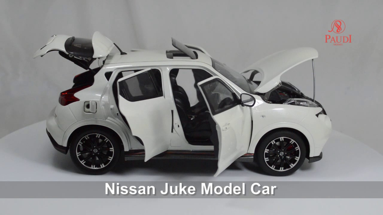 Cast Model Car Nissan Juke White 1 18 Scale Paudi