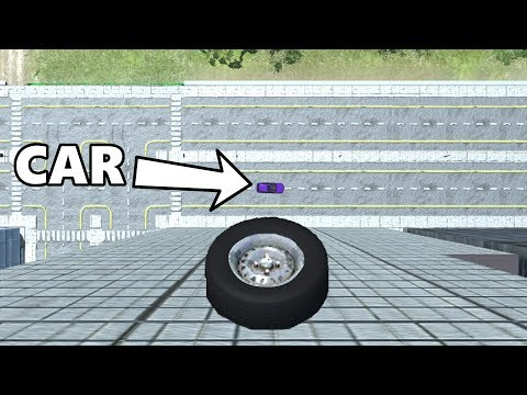 Beamng drive - Tire Free Falling on Cars