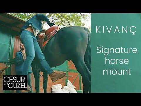 Kivanc Tatlitug ❖ Mounting a horse with no stirrup! ❖ Cesur ve Guzel