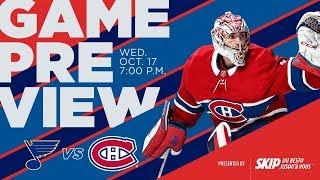 NHL 19 PS4. REGULAR SEASON 2018-2019: St. Louis BLUES VS Montreal CANADIENS. 10.17.2018. (NBCSN) !