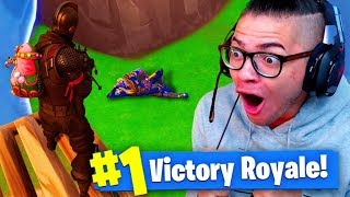 TROLLING THANOS In Fortnite Battle Royale! *INSANE!* (Infinity Gauntlet) 9 YEAR OLD BROTHER! FUNNY