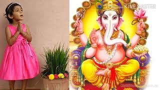 #vakratunda mahakaya mantra #Ganapati #baby Dhanishka